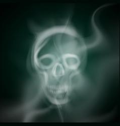 Smoke skull vector