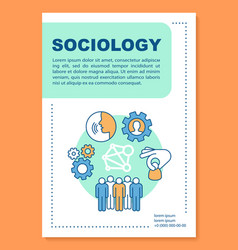 Sociology poster template layout social vector