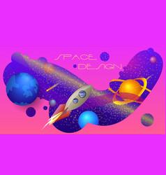 Space design a colorful composition vector