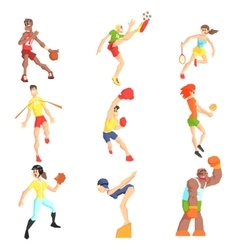 Sports people set vector