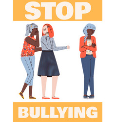 stop bullying placard or poster template vector image
