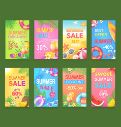 summer sale seasonal offer vector image