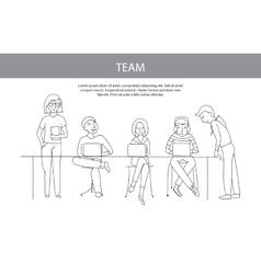 Teamwork team concept vector image