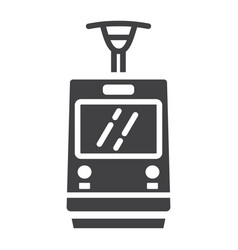 tram glyph icon transport and railway train sign vector image