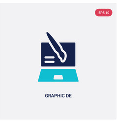 two color graphic de icon from creative pocess vector image