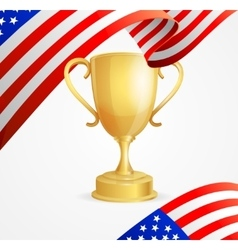 USA Winning Golden Cup Concept vector image
