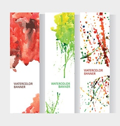 Vertical business banner set with abstract rainbow vector