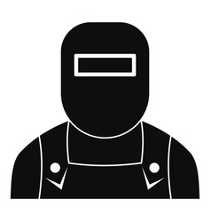 Welder icon simple style vector
