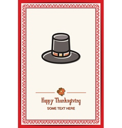 With thanksgiving and hat vector