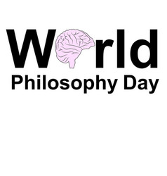 world philosophy day november buddhist man vector image