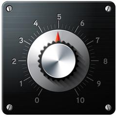 Analog regulator control interface vector image vector image