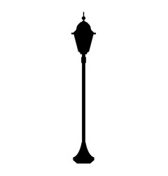 city street lantern the black color icon vector image