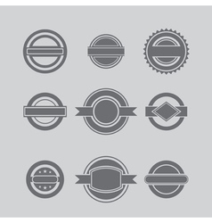 Set of defferent labels vector image vector image