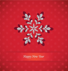 snowflake-card vector image vector image