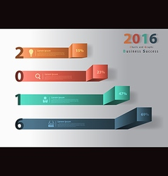 2016 new year modern business steps to success cha vector image vector image