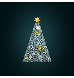 Christmas tree4 vector image vector image