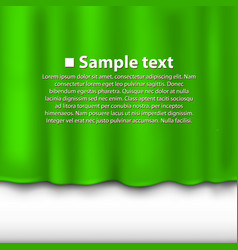 curtain of green color vector image