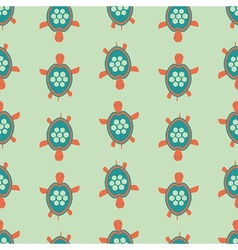 Funny turtle pattern vector