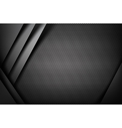 Abstract background dark with carbon fiber texture vector image vector image