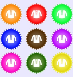 casual jacket icon sign Big set of colorful vector image vector image