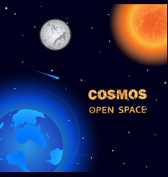 cosmos open space vector image