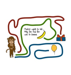 Game for kids with a monkey vector image