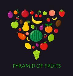 pyramid of fruits vector image