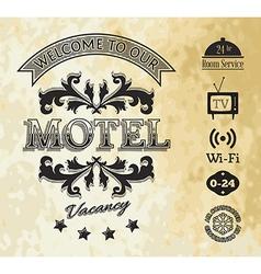 Retro styled motel background vector image