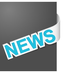 right side sign news vector image vector image