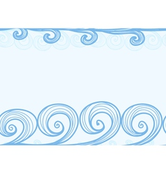 Seamless background of hand-drawn sea waves vector image vector image