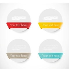 Set of rounded banners with ribbons vector image vector image