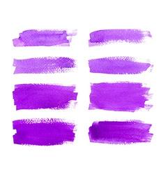Set of watercolor stripes vector