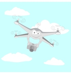 Drone filmed by the camera vector