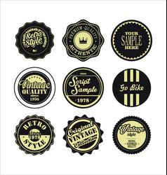 vintage labels black and beige set 2 vector image