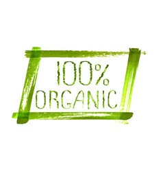 100 organic product logo design vector