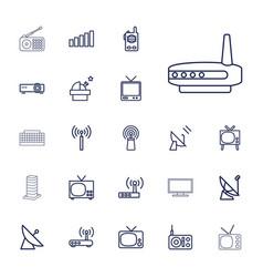 22 antenna icons vector