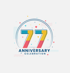 77 anniversary celebration modern 77th vector