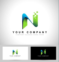 Abstract letter N logo design vector