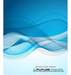Abtract waves background for brochures and flyers vector