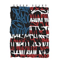 american flag brooklyn new york miami california vector image
