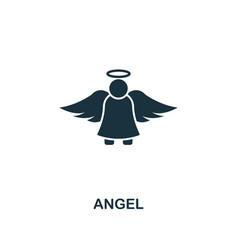 angel icon premium style design from christmas vector image