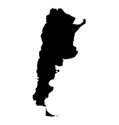 Argentina - solid black silhouette map of country vector
