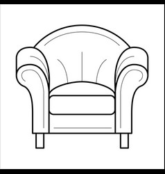Armchair for fashion cozy interior vector