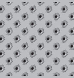 background pattern with bullet holes vector image