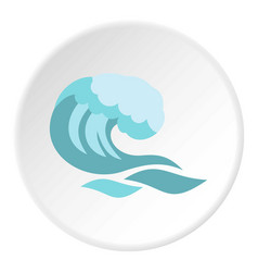 big wave icon circle vector image