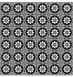 black and white oriental seamless pattern vector image