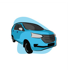 blue ranger city car vector image