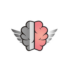 brain human with wings creative icon vector image