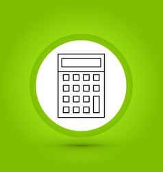 Calculator icon in creative design with elements vector