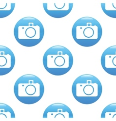 Camera sign pattern vector image